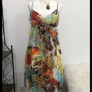 Diane Von Furstenberg silk spaghetti strap dress